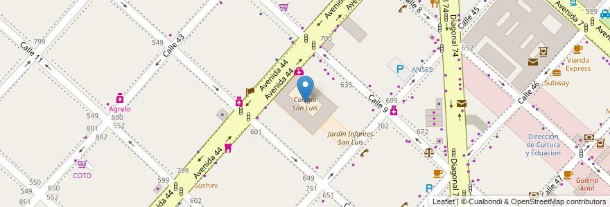 Mapa de ubicacion de Colegio San Luis, Casco Urbano en La Plata, Partido De La Plata, Buenos Aires, Argentina.