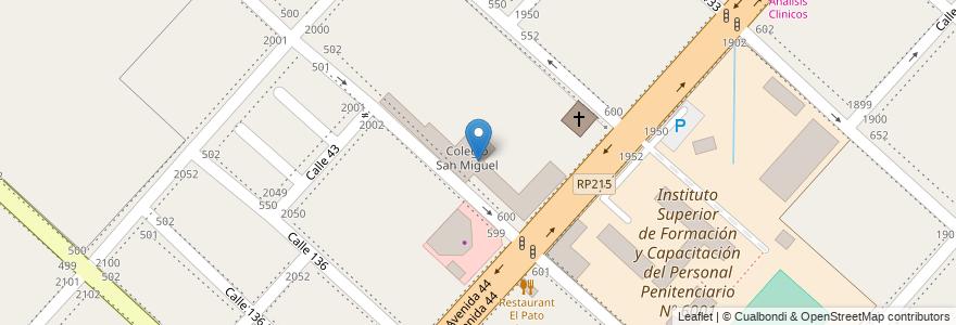 Mapa de ubicacion de Colegio San Miguel, San Carlos en Argentina, Buenos Aires, Partido De La Plata, San Carlos.