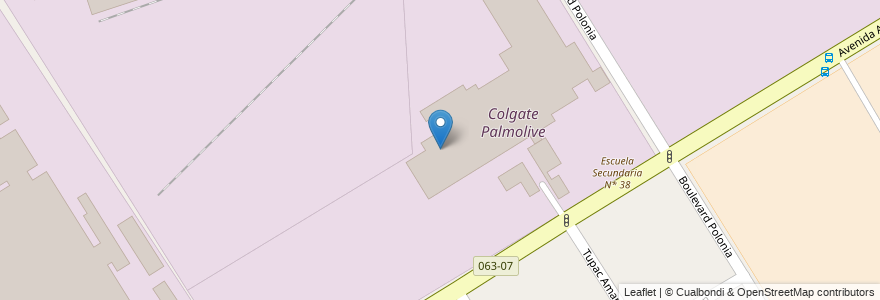 Mapa de ubicacion de Colgate Palmolive en Argentina, Buenos Aires, Partido De Lomas De Zamora, Llavallol.