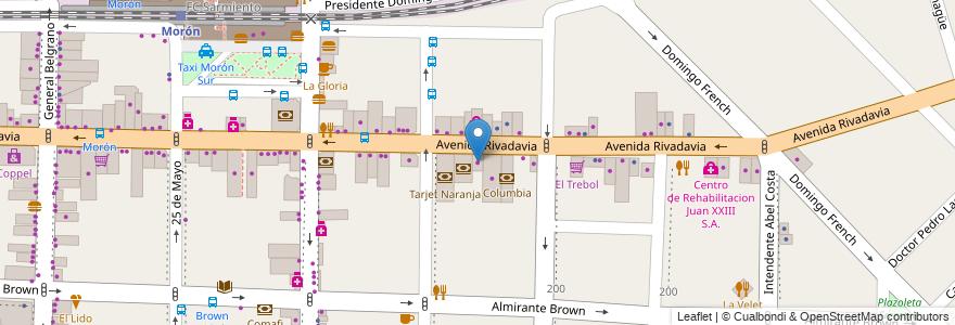 Mapa de ubicacion de Colombraro en Morón, Partido De Morón, Buenos Aires, Argentina.