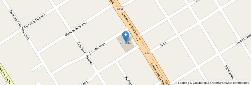 Mapa de ubicacion de Colonial en Argentina, Buenos Aires, Partido De Esteban Echeverría, Luis Guillón.