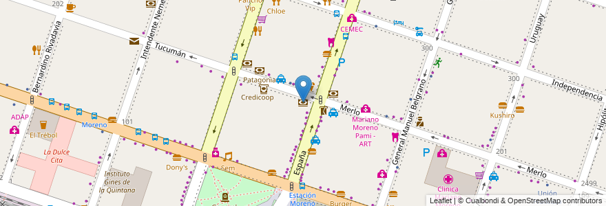Mapa de ubicacion de Columbia en Argentina, Buenos Aires, Partido De Moreno, Moreno.