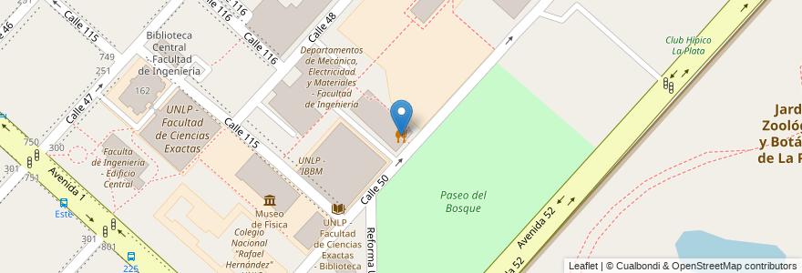 Mapa de ubicacion de Comedor Universitario, Casco Urbano en Argentina, Buenos Aires, Partido De La Plata, La Plata.