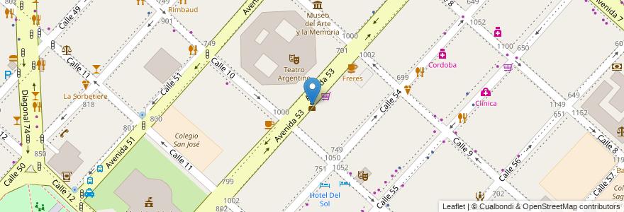 Mapa de ubicacion de Comisaria 1era, Casco Urbano en Argentina, Buenos Aires, Partido De La Plata, La Plata.