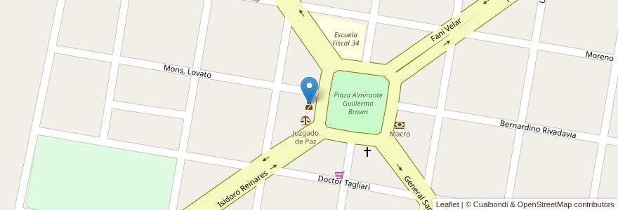 Mapa de ubicacion de Comisaría en Argentina, Santa Fe, Departamento La Capital, Municipio De Llambi Campbell.