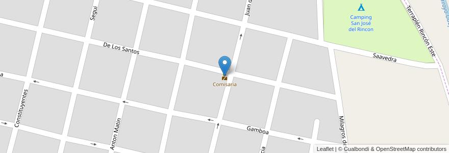 Mapa de ubicacion de Comisaria en San José Del Rincón, Municipio De San José Del Rincón, Departamento La Capital, Santa Fe, Argentina.