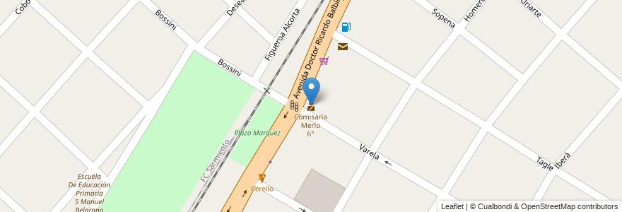 Mapa de ubicacion de Comisaría Merlo 6° en Argentina, Buenos Aires, Partido De Merlo, Mariano Acosta.