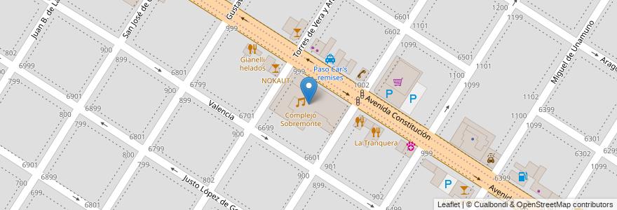 Mapa de ubicacion de Complejo Sobremonte en Mar Del Plata, Partido De General Pueyrredón, Buenos Aires, Argentina.