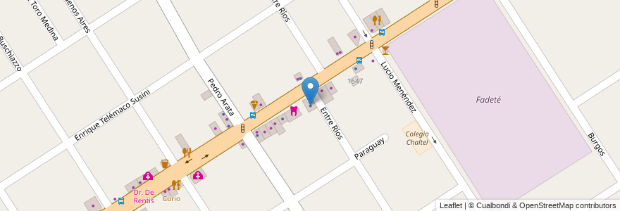 Mapa de ubicacion de Consultorio Externos en Argentina, Buenos Aires, Partido De Tigre, Don Torcuato.