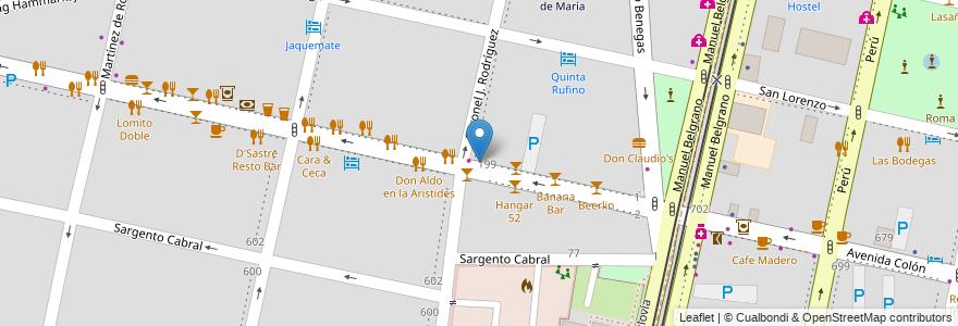 Mapa de ubicacion de Cornelius en Argentina, Chile, Mendoza, Departamento Capital, Sección 5ª Residencial Sur, Ciudad De Mendoza.