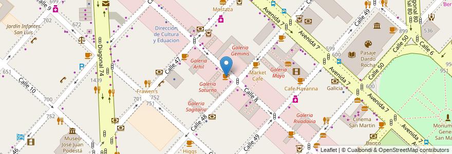Mapa de ubicacion de Costa Cafe, Casco Urbano en La Plata, Partido De La Plata, Buenos Aires, Argentina.
