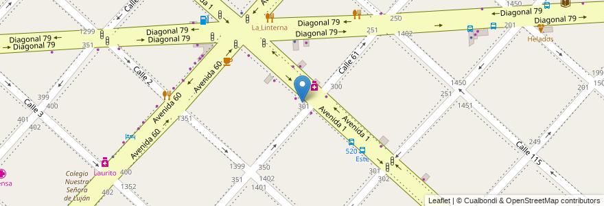Mapa de ubicacion de Dalton, Casco Urbano en La Plata, Partido De La Plata, Buenos Aires, Argentina.