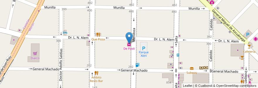 Mapa de ubicacion de De Paoli en Argentina, Buenos Aires, Partido De Morón, Morón.