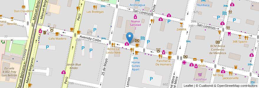 Mapa de ubicacion de Del Puente en Argentina, Chile, Mendoza, Departamento Capital, Sección 2ª Barrio Cívico, Ciudad De Mendoza.