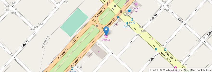 Mapa de ubicacion de Del Sur, Casco Urbano en Argentina, Buenos Aires, Partido De La Plata, Altos De San Lorenzo.