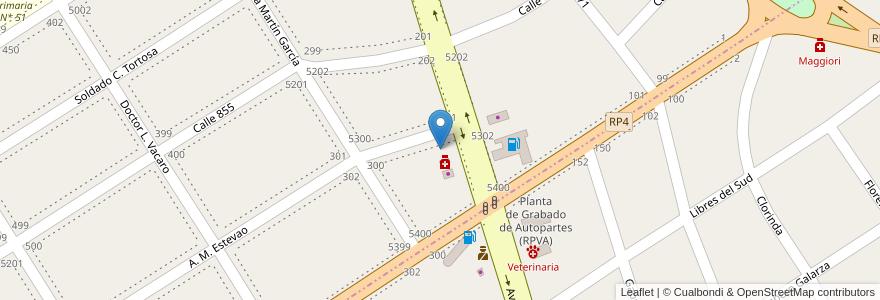 Mapa de ubicacion de Demetrio en Argentina, Buenos Aires, Partido De Quilmes, Villa La Florida.