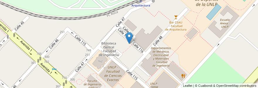 Mapa de ubicacion de Departamento Aeronáutica - Facultad de Ingeniería, Casco Urbano en La Plata, Partido De La Plata, Buenos Aires, Argentina.