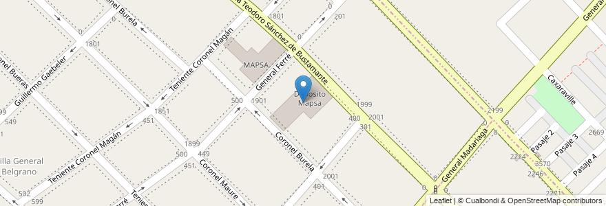 Mapa de ubicacion de Deposito Mapsa en Argentina, Buenos Aires, Partido De Lanús, Lanús Este, Gerli.