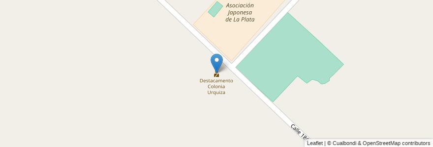 Mapa de ubicacion de Destacamento Colonia Urquiza, Melchor Romero en Melchor Romero, Partido De La Plata, Buenos Aires, Argentina.