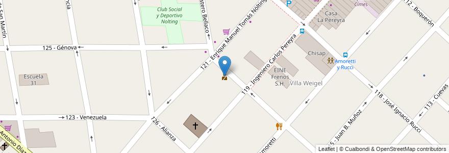 Mapa de ubicacion de Destacamento Policial Ciudadela Sur en Argentina, Buenos Aires, Partido De Tres De Febrero, Ciudadela.