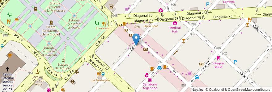 Mapa de ubicacion de Discapacitados, Casco Urbano en Argentina, Buenos Aires, Partido De La Plata, La Plata.