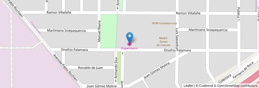 Mapa de ubicacion de Dispensario en Córdoba, Municipio De Córdoba, Pedanía Capital, Departamento Capital, Córdoba, Argentina.