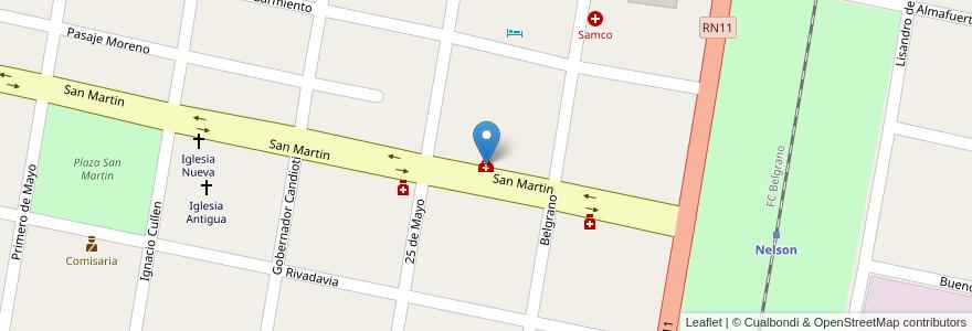 Mapa de ubicacion de Dispesario Comunal en Nelson, Municipio De Nelson, Departamento La Capital, Santa Fe, Argentina.