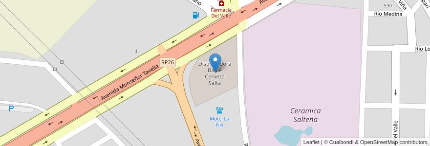 Mapa de ubicacion de Distribuidora Badié Cerveza Salta en Municipio De Salta, Salta, Capital, Salta, Argentina.