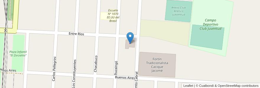 Mapa de ubicacion de Distribuidora de Bebidas en Argentina, Santa Fe, Departamento La Capital, Municipio De Laguna Paiva.