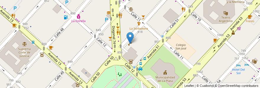 Mapa de ubicacion de Doce50, Casco Urbano en Argentina, Buenos Aires, Partido De La Plata, La Plata.