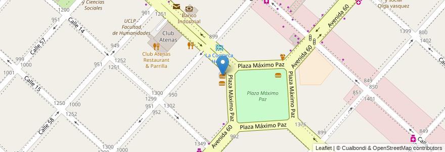 Mapa de ubicacion de Doña Olinda, Casco Urbano en La Plata, Partido De La Plata, Buenos Aires, Argentina.