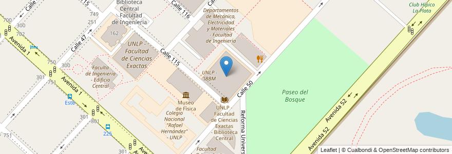 Mapa de ubicacion de Edificio Abuelas de Plaza de Mayo, Casco Urbano en Argentina, Buenos Aires, Partido De La Plata, La Plata.