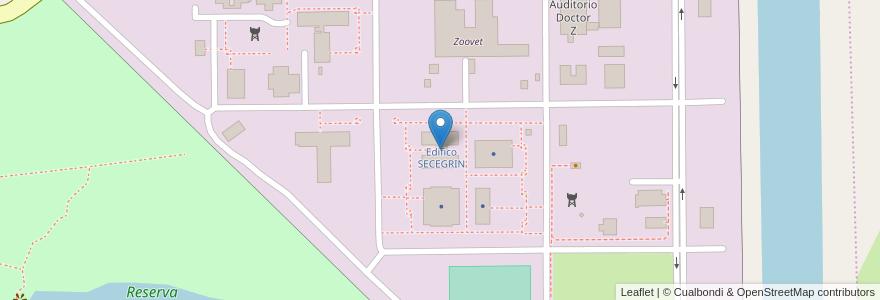 Mapa de ubicacion de Edifico SECEGRIN en Argentina, Santa Fe, Departamento La Capital, Santa Fe Capital.