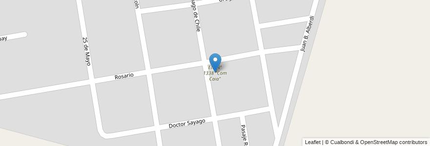 """Mapa de ubicacion de EIB Nº 1338 """"Com Caia"""" en Argentina, Santa Fe, Departamento La Capital, Municipio De Recreo."""