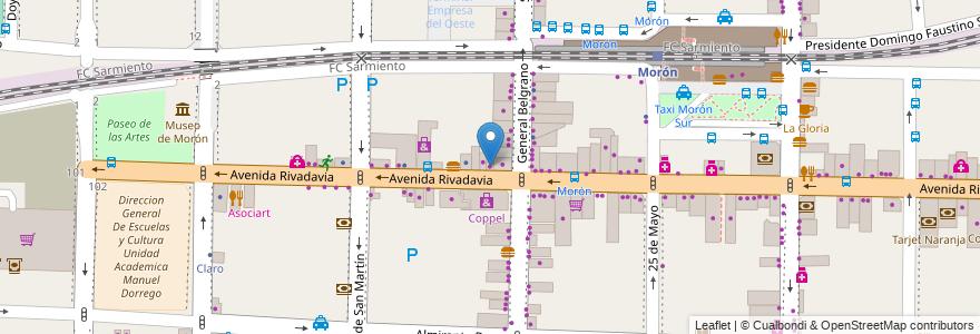 Mapa de ubicacion de El Angel en Argentina, Buenos Aires, Partido De Morón, Morón.