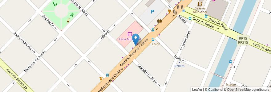 Mapa de ubicacion de El estribo en Argentina, Buenos Aires, Partido De Ensenada.