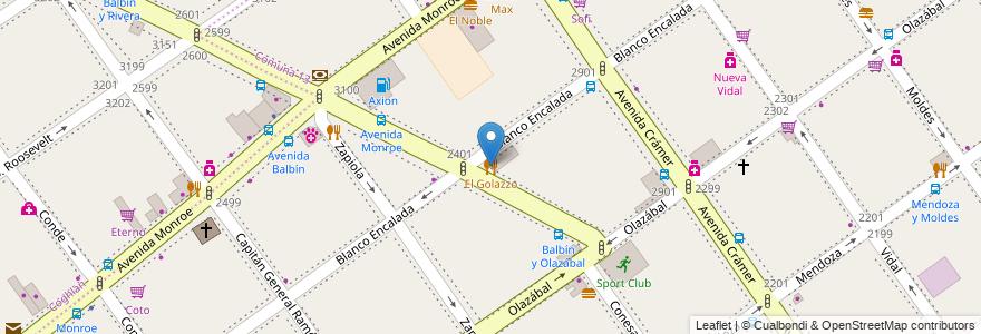 Mapa de ubicacion de El Golazzo, Belgrano en Argentina, Ciudad Autónoma De Buenos Aires, Comuna 13, Buenos Aires.