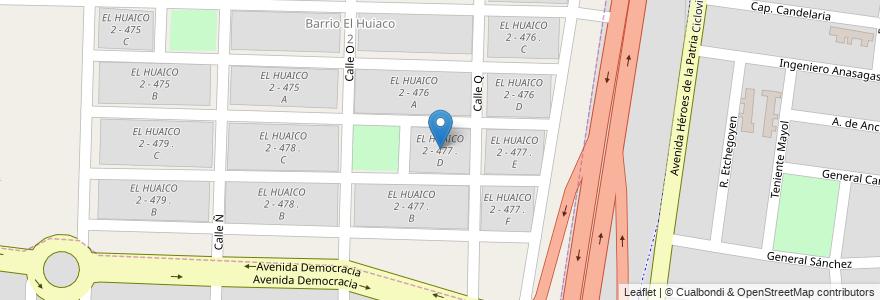 Mapa de ubicacion de EL HUAICO 2 - 477 . D en Argentina, Salta, Capital, Municipio De Salta.