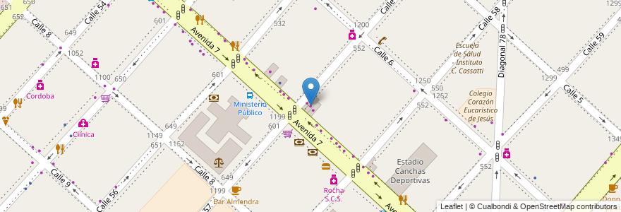 Mapa de ubicacion de El Noble, Casco Urbano en La Plata, Partido De La Plata, Buenos Aires, Argentina.