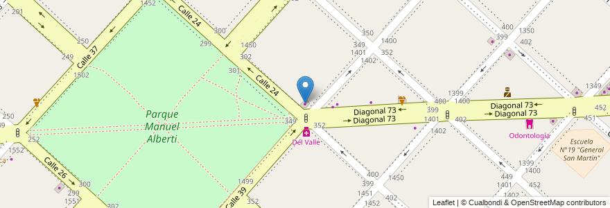 Mapa de ubicacion de El Rincón, Casco Urbano en Argentina, Buenos Aires, Partido De La Plata, La Plata.