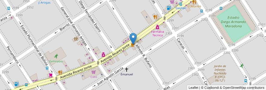 Mapa de ubicacion de El Viejo, Villa General Mitre en Argentina, Ciudad Autónoma De Buenos Aires, Buenos Aires, Comuna 11.