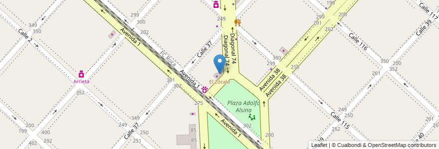 Mapa de ubicacion de El Zócalo, Casco Urbano en Argentina, Buenos Aires, Partido De La Plata, La Plata.