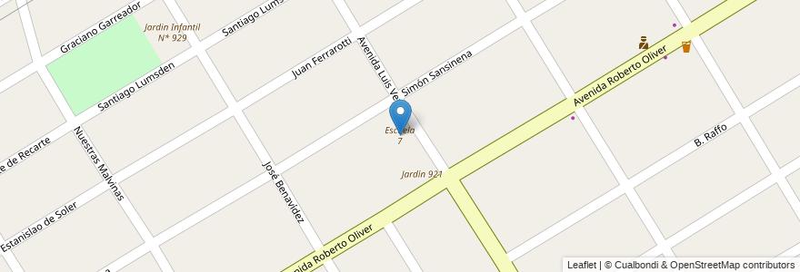 Mapa de ubicacion de Escuela 7 en Argentina, Buenos Aires, Partido De Esteban Echeverría, 9 De Abril.