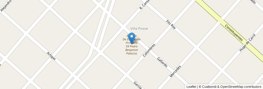 Mapa de ubicacion de Escuela De Educación Primaria 59 Pedro Benjamin Palacios en Argentina, Buenos Aires, Partido De Merlo, Mariano Acosta.