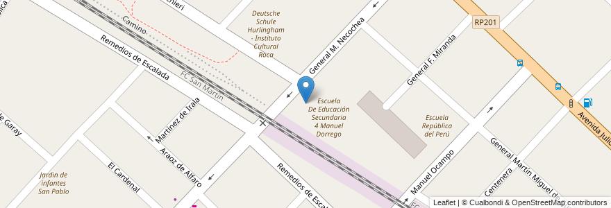Mapa de ubicacion de Escuela De Educación Secundaria 1 Esteban Echeverria en Argentina, Buenos Aires, Partido De Hurlingham, Hurlingham.
