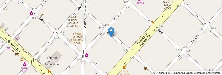 Mapa de ubicacion de Escuela de Salud - Instituto C. Cassatti, Casco Urbano en La Plata, Partido De La Plata, Buenos Aires, Argentina.