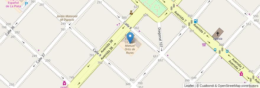 Mapa de ubicacion de Escuela EGB N° 33 Juan Manuel Ortiz de Rozas, Casco Urbano en La Plata, Partido De La Plata, Buenos Aires, Argentina.