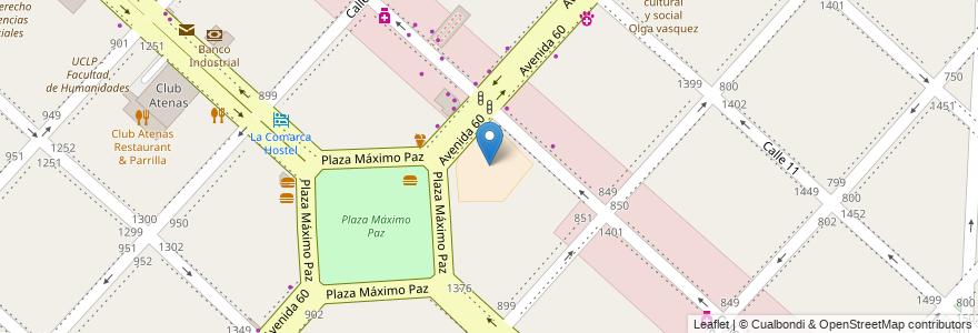 """Mapa de ubicacion de Escuela Media N°2 """"España"""", Casco Urbano en Argentina, Buenos Aires, Partido De La Plata, La Plata."""