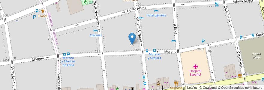 Mapa de ubicacion de Escuela Normal Superior 02 en Lenguas Vivas Mariano Acosta, Balvanera en Argentina, Ciudad Autónoma De Buenos Aires, Comuna 3, Buenos Aires.