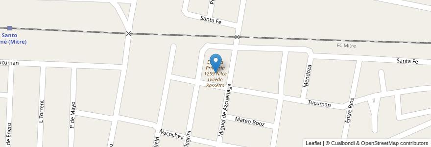 Mapa de ubicacion de Escuela Primaria 1259 Nilce Uviedo Rassetto en Argentina, Santa Fe, Departamento La Capital, Santo Tomé.